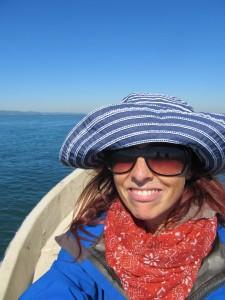 Sarah and boat